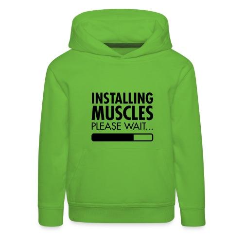 SWEAT INSTALLING MUSCLES - Pull à capuche Premium Enfant
