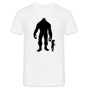 Sasquatch Girl - Mannen T-shirt