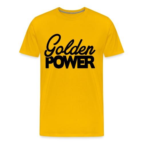 Golden Power - Black Logo - Mannen Premium T-shirt