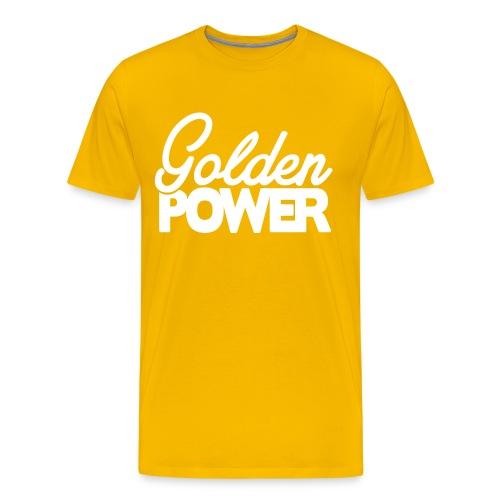 Golden Power - White Logo - Mannen Premium T-shirt