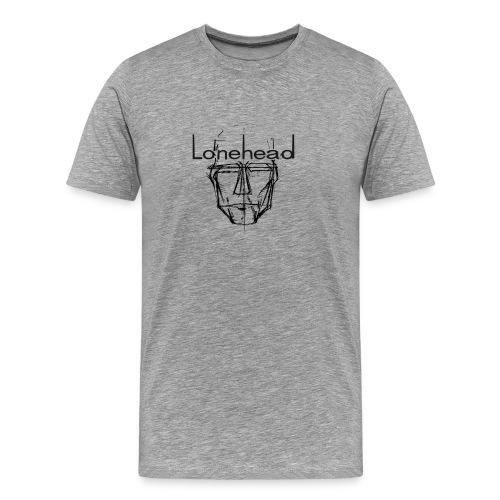 Lonehead mens tee logo black - Men's Premium T-Shirt