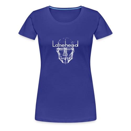 Lonehead ladies tees logo white - Women's Premium T-Shirt