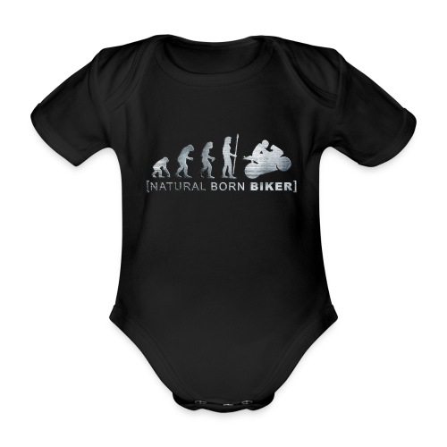 Biker - Baby Bio-Kurzarm-Body