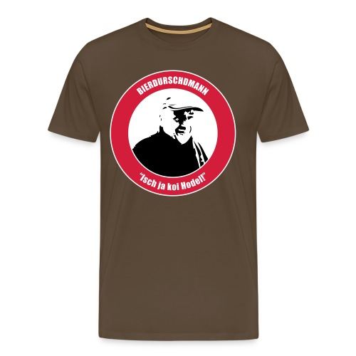 Isch ja koi Hodel / Red / Brown - Männer Premium T-Shirt