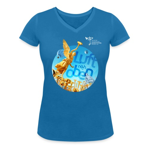 Ökolog. Shirt Frauen mit V-Ausschnitt - Frauen Bio-T-Shirt mit V-Ausschnitt von Stanley & Stella