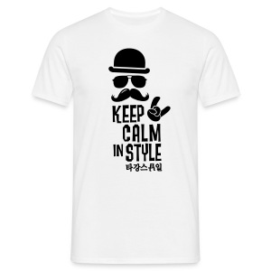 Keep calm in style - Männer T-Shirt