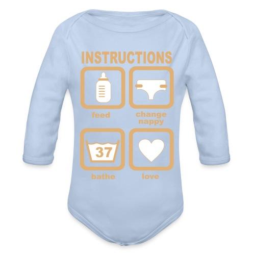 Baby Instructions - Baby bio-rompertje met lange mouwen