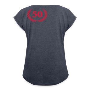 50 - Vrouwen T-shirt met opgerolde mouwen