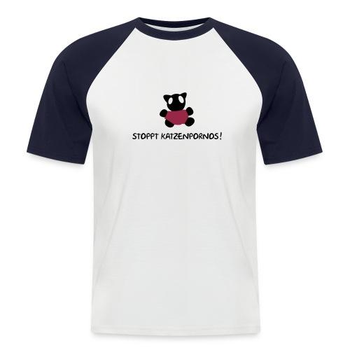 katzenporno - Männer Baseball-T-Shirt