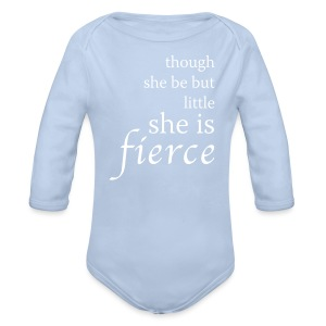 Fierce Baby Long Sleeve One Piece - Organic Longsleeve Baby Bodysuit