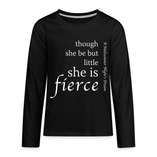 Fierce Teenage Premium Long Sleeve T-Shirt - Teenagers' Premium Longsleeve Shirt