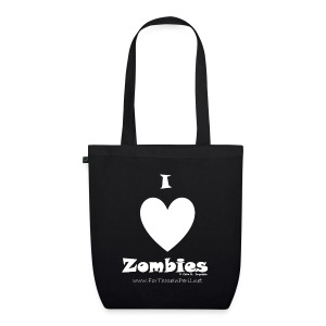 Tote Bag - I Love Zombies - EarthPositive Tote Bag