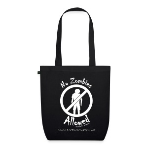 Tote Bag - No Zombies Allowed - EarthPositive Tote Bag