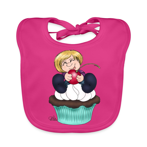 Sweet Cherry Cupcake - Baby Bio-Lätzchen