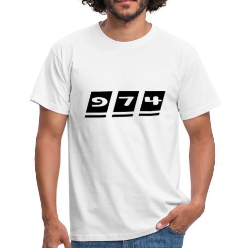 T-shirt Homme écriture 974 - Réunion - T-shirt Homme