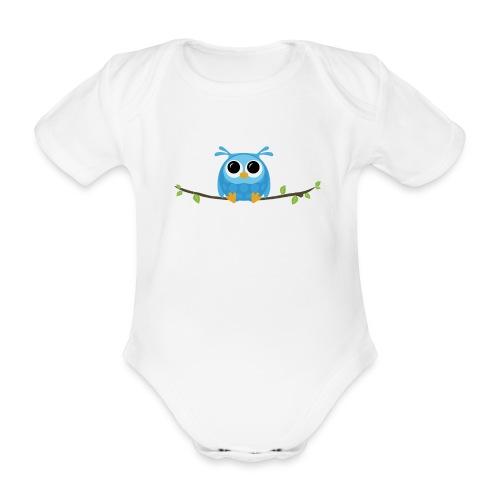 Babypakje met uiltje - Organic Short-sleeved Baby Bodysuit