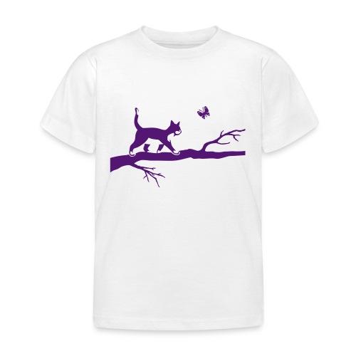 T-shirt un chat sur la branche - T-shirt Enfant