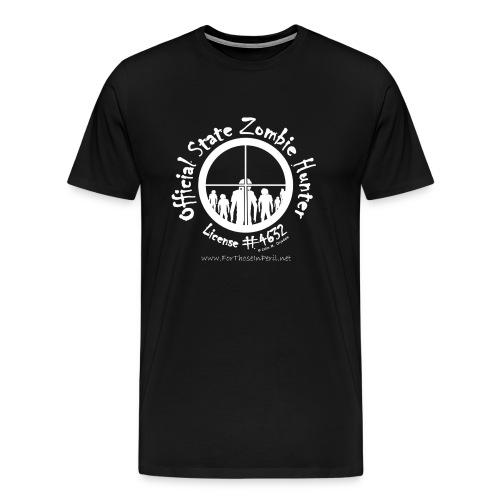 Men's T Shirt - Official State Zombie Hunter - Men's Premium T-Shirt