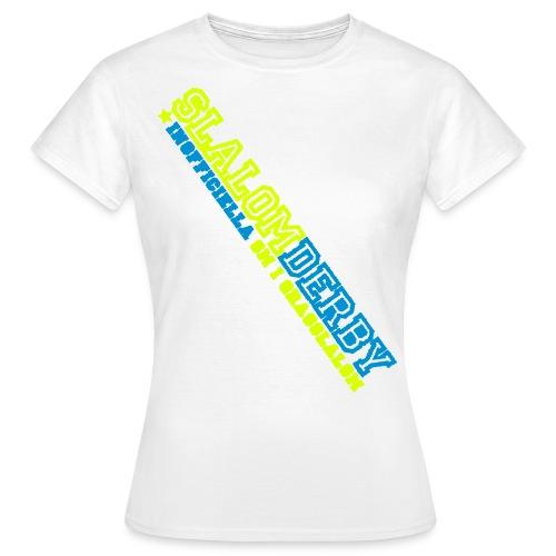 T-shirt - Slalomderby (dam vit) - T-shirt dam