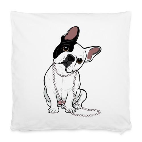 Housse de coussin 40 x 40 cm - vêtement,sucette,mode,maison,lit,linge,housse,french,français,coussin,bulldog,bouledogue