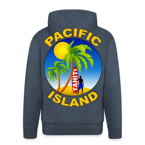 Tahiti Pacific Island - Men's Premium Hooded Jacket