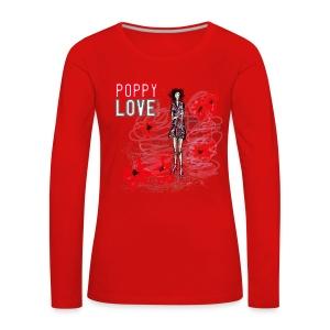 POPPY LOVE Damen Longsleeve - Frauen Premium Langarmshirt