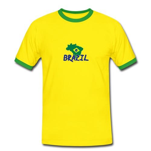 Maglietta Contrast da uomo - T-shirt Brazil,