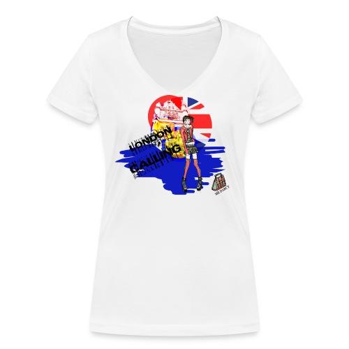 London Calling Damen, Baumwolle aus ökologischem Anbau - Frauen Bio-T-Shirt mit V-Ausschnitt von Stanley & Stella