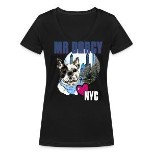 Mr Darcy loves NYC  Damen, Baumwolle aus Ökologischer Herstellung - Frauen Bio-T-Shirt mit V-Ausschnitt von Stanley & Stella