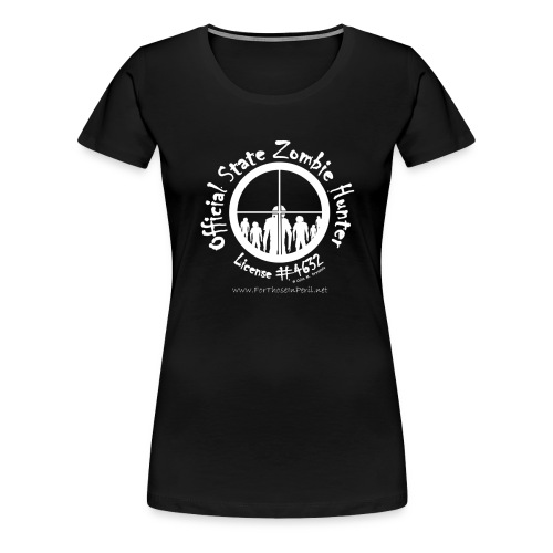 Women's T Shirt - Official State Zombie Hunter - Women's Premium T-Shirt
