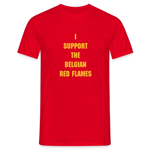 Verbruggen belgian red flames - Mannen T-shirt