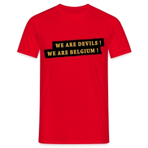 Verbruggen belgian red flames - Mannen T-shirt