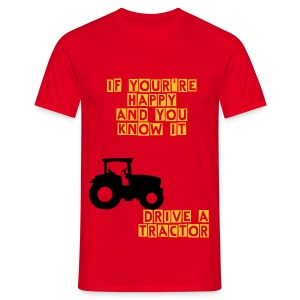 Tractor Happiness - Mannen T-shirt