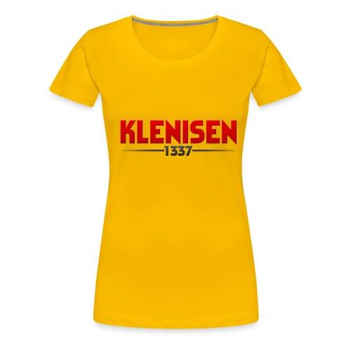 Klenisen T-shirt dam - Premium-T-shirt dam