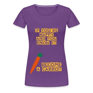 Happy Carrot - Vrouwen Premium T-shirt