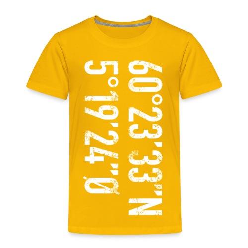 Bergen koordinater - Premium T-skjorte for barn