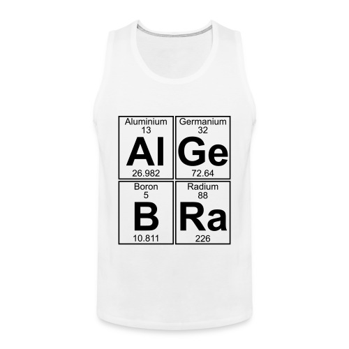 Al-Ge-B-Ra (algebra) - Men's Premium Tank Top