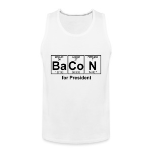 Bacon for President (you can change text) - Men's Premium Tank Top