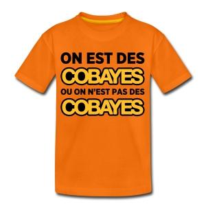 T-Shirt Couleur Ado On est Cobayes - T-shirt Premium Ado