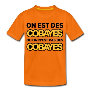 T-Shirt Couleur Ado On est Cobayes - T-shirt Premium Ado