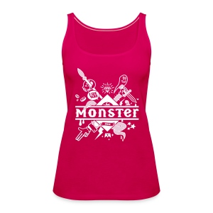Pink Noble brown monster T-Shirts Tops - Women's Premium Tank Top
