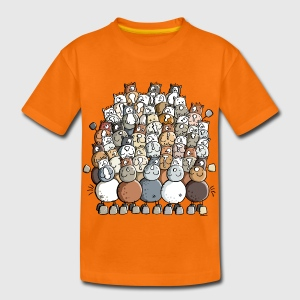 Colorful Pile Of Horses - Horse Shirts - Kids' Premium T-Shirt
