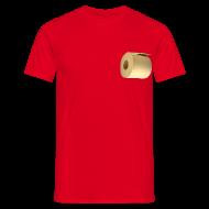 T-shirts ~ Mannen T-shirt ~ Grappig camping T-shirt met WC rol onder de arm