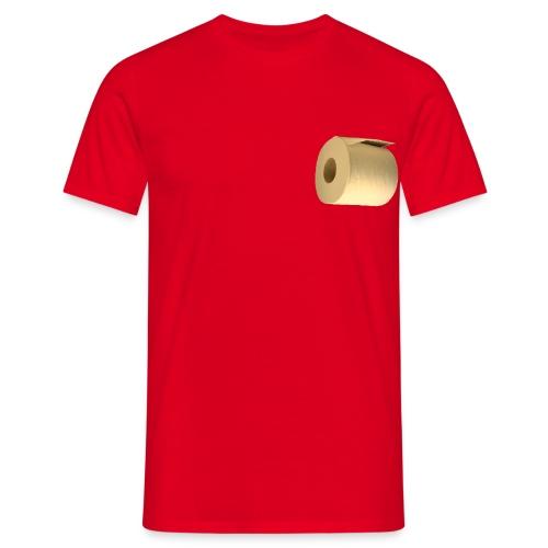 Grappig camping T-shirt met WC rol onder de arm - Mannen T-shirt
