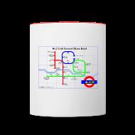 Mugs & Drinkware ~ Contrasting Mug ~ Hot Cold Ground Tube Map Mug
