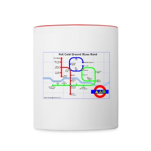 Hot Cold Ground Tube Map Mug - Contrasting Mug