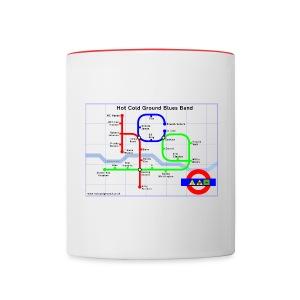 Hot Cold Ground Tube Map Mug - Contrasting Mug