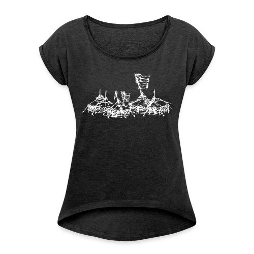 Mein Dorf T-Shirt - Frauen T-Shirt mit gerollten Ärmeln