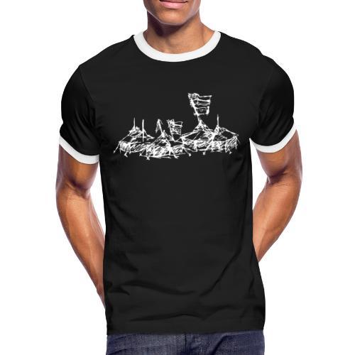 Mein Dorf T-Shirt - Männer Kontrast-T-Shirt