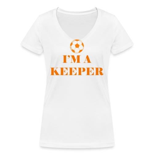 I'm a keeper - Vrouwen bio T-shirt met V-hals van Stanley & Stella